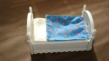 RARE FISHER PRICE LOVING FAMILY DOLLHOUSE BOUNCE BED  w/ FLORAL BEDSREAD