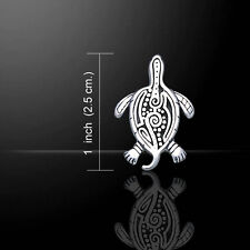 Aboriginal Turtle .925 Sterling Silver Pendant by Peter Stone