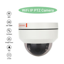HD 1080P WiFi Wireless Dome IP Camera Security Network 3x Zoom Onvif Waterproof