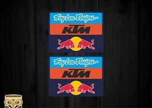 Troy Lee Designs KTM Aufkleber Sticker Laminated X2