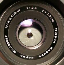 Nippon Kogaku Nikkor P 7.5cm f/2.8 with screw mount adapter