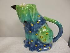 Colorful Fluppy Dog Ceramic Pitcher