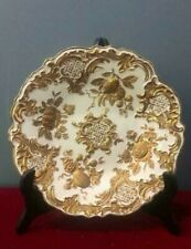 Antique 1860-1924 Germnay Original Meissen Gilt Porcelain Plate Marked Rare 28cm
