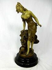 Schöne originale Jugendstil Figur Marmorsockel #  beautiful  Art Nouveau figure