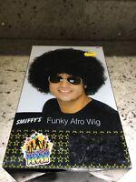 Black 1970's Disco Funky Afro Wig Adult Unisex Smiffys Fancy Dress Costume