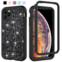 For Apple iPhone 11 Pro Max Glitter Shockproof Protective Hybrid Hard Case Cover