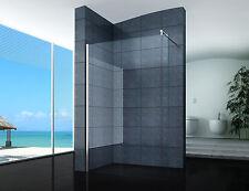 Walk-In Duschabtrennung Duschwand Seitenwand 40 - 160 cm Klarglas NANO Milchglas