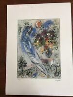 Chagall Marc Litografia cm 50x70 con certificato edizione SPADEM firma matita