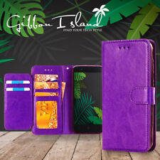 Samsung Note 8 case - leather wallet 7-card capacity with glass screen protector