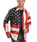Scully Mens American Flag Long Sleeve Shirt Patriotic Size XXL Button-Up Shirt A