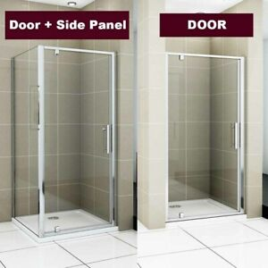 Aica Pivot Shower Door Enclosure Cubicle Tray Waste 700/760/800/860/900/1000mm