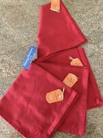 Set of 4 Tommy Bahama Home Red Napkins TB Monogrammed