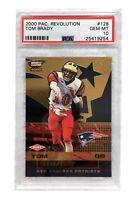 2000 Pacific Revolution Tom Brady Rookie Card #128 PSA 10 RC #D/300 Patriots