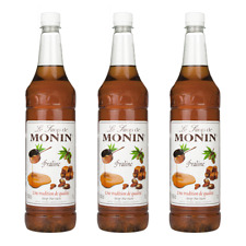 Monin Sirup Praliné, 1,0L PET, 3er Pack