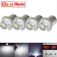 4X 0.5W 3V-18V White P13.5S Led Flashlight Replacement bulb Lantern Work Light