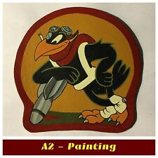 WW2 Hand Painted 47th Bomb Sqd Patch For A2 G1 Leather Flight Flying Jacket