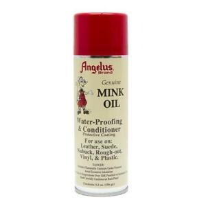 Angelus Mink Oil Aerosol - Waterproof Conditioner Suede Leather Boots Shoe 5.5oz