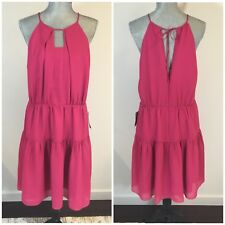 $129 CHELSEA28 Size XL X-Large Pink Fit & Flare A-Line Dress Ruffled Nordstrom