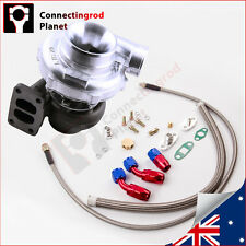 Universal T70 T3 flange .70 A/R oil Cooled Turbo Charger 500BHP + Oil Line Kit