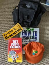 Geocaching Accessories Package - Shoulder bag, Books, Hat and much more!