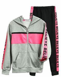 Girls Tracksuit Jogger Jacket Dance Suit Children Age 4 5 6 7 8 9 10 11 12 Years
