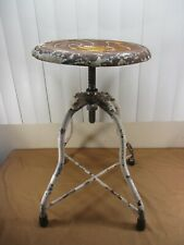 Vintage Adjustable Doctors Hospital Stool from Old Cook County Hospital Chicago