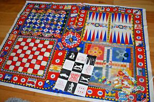 VINTAGE CLOTHKITS GAMES TABLE CLOTH - original 1970s
