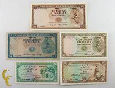 1963-1984 Timor & Macau 5 Pc Notes Escudos Patacas (VF-UNC) Condition