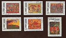 VIETNAM, 6 1988, VIETNAMESE CHILDREN'S PAINTINGS Stamps, Used, SeeDescr   FUS920