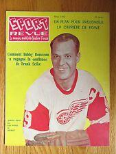 sport revue march 1962 gordie howe no 9 detroit red wings magazine