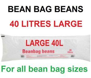 Bean Bag Beans Balls Filler Refill BeanbagSack Chair 40L Filling FREE POSTAGE
