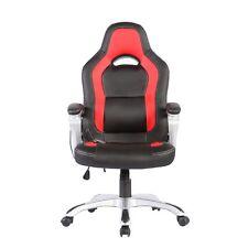 Heated Vibrating Race Car Computer Office Massage Chair PU Leather Ergonomic