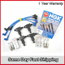 For MAZDA RX8 RX-8 ic163 Ignition Coils B2875*4 NGK Spark Plugs & WIRES SET