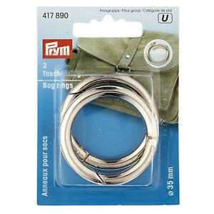 Prym Bag Rings 35mm Silver