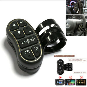 Universal Wireless Steering Wheel Button Remote Control For Car Stereo DVD GPS