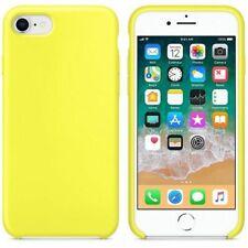 Funda silicona iphone 7/8 textura suave  Amarillo