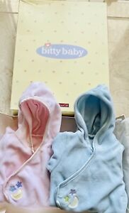 Brand New In Box American Girl BITTY BABY TWINS Moon And Stars Sleeper Pink Blue