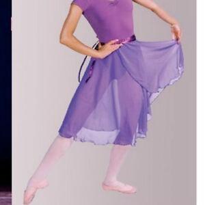 Women Professional Ballet Dance Dress Wrap Skirt Long Chiffon Adult 10 Colors