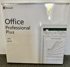 Microsoft Office Professional Plus 2019  - 32/64 Bit - Brand New & Sealed - DVD