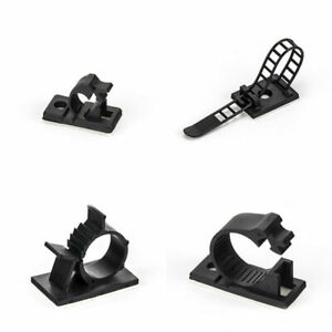 Self Adhesive Cable Management Clips Fixed Clamp Adjustable JS/CL/Small/Large