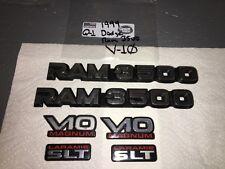 1994-02 DODGE RAM 3500 & V10 DOOR EMBLEMS OEM (6 PIECES) VHTF!