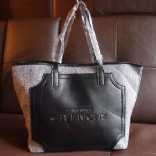 New Givenchy Black / Grey Canvas Shoulder Bag Casual Shoppingbag Tote Handbag