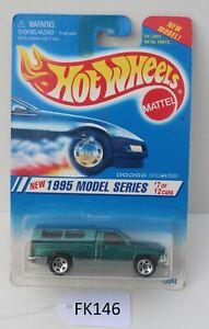 Hot wheels 1995 Model Series Dodge Ram 1500 7/12 #348 Green FNQHotwheels FK146