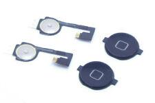 2X für iPhone 4 4G A1349, A1332 Homebutton Home Button Knopf Flex Kabel Schwarz