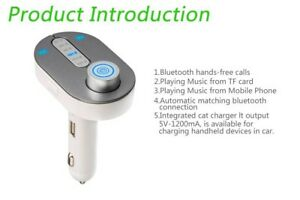T9 Bluetooth Car Kit FM Transmitter MP3 Modulator Player Charger