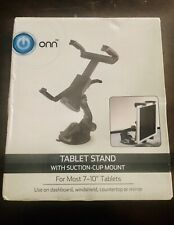 """ONN Tablet Stand With Suction Cup Mount For Most 7 - 10"""" Tablets 360"""