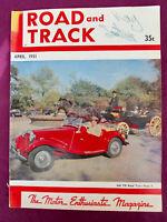 R&T 4/1951 MG TD Midget Simca 8 Sport Ghia Abarth Vignale Vercellese Viotti TOP