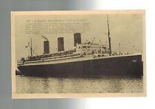 Mint 1926 Ile de France Paqueboat Transatlantic Ship Real Picture Postcard