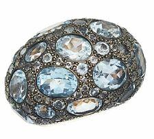 Pomellato Topaz Bombe Tabou ring 18ct gold, Ring size J,  15.5