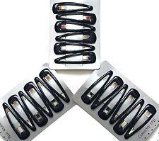 Navy blue hair clips in school colours. Set of 18 slides snaps sleepies bendies